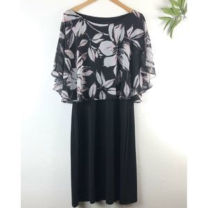 Connected Apparel Floral popover Dress 12